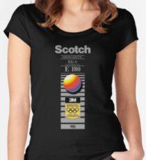 Retro VHS tape vaporwave aesthetic alternate version Fitted Scoop T-Shirt