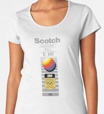 Retro VHS tape vaporwave aesthetic alternate version Premium Scoop T-Shirt