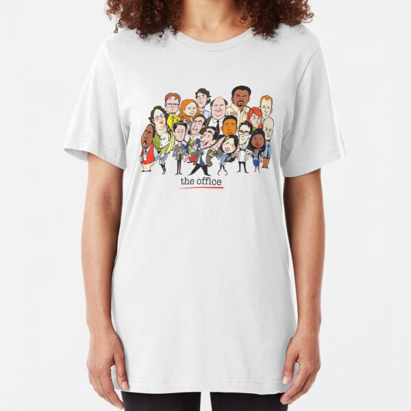 The Office Cast Tv Slim Fit T-Shirt