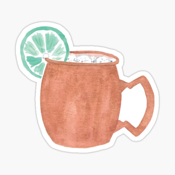 Moscow Mule Drink Sticker