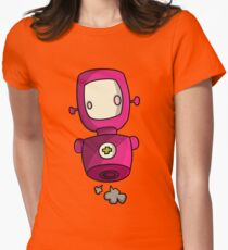 ROBOT PINK Womens Fitted T-Shirt