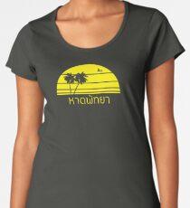 Pattaya Beach     หาดพัทยา - Palm Tree Women's Premium T-Shirt