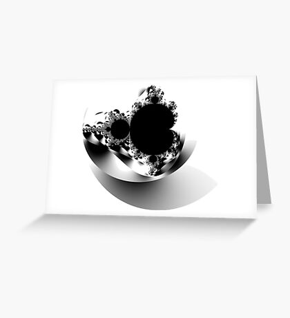 Untitled XVII - Black Greeting Card