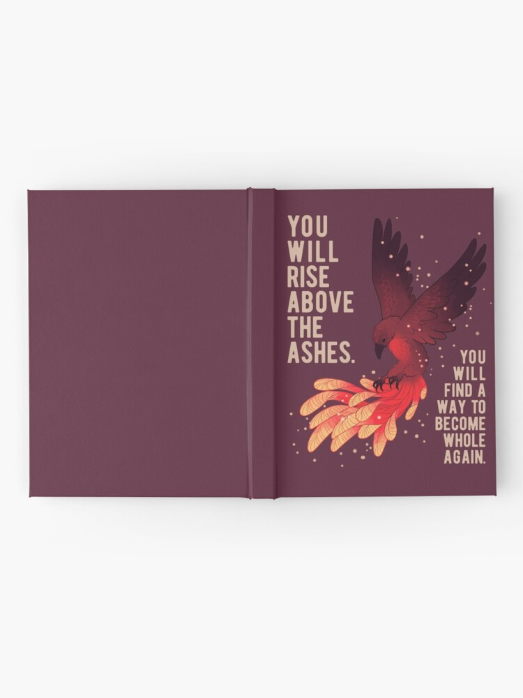 "Alternate view of ""You Will Rise Above the Ashes"" Phoenix Hardcover Journal"