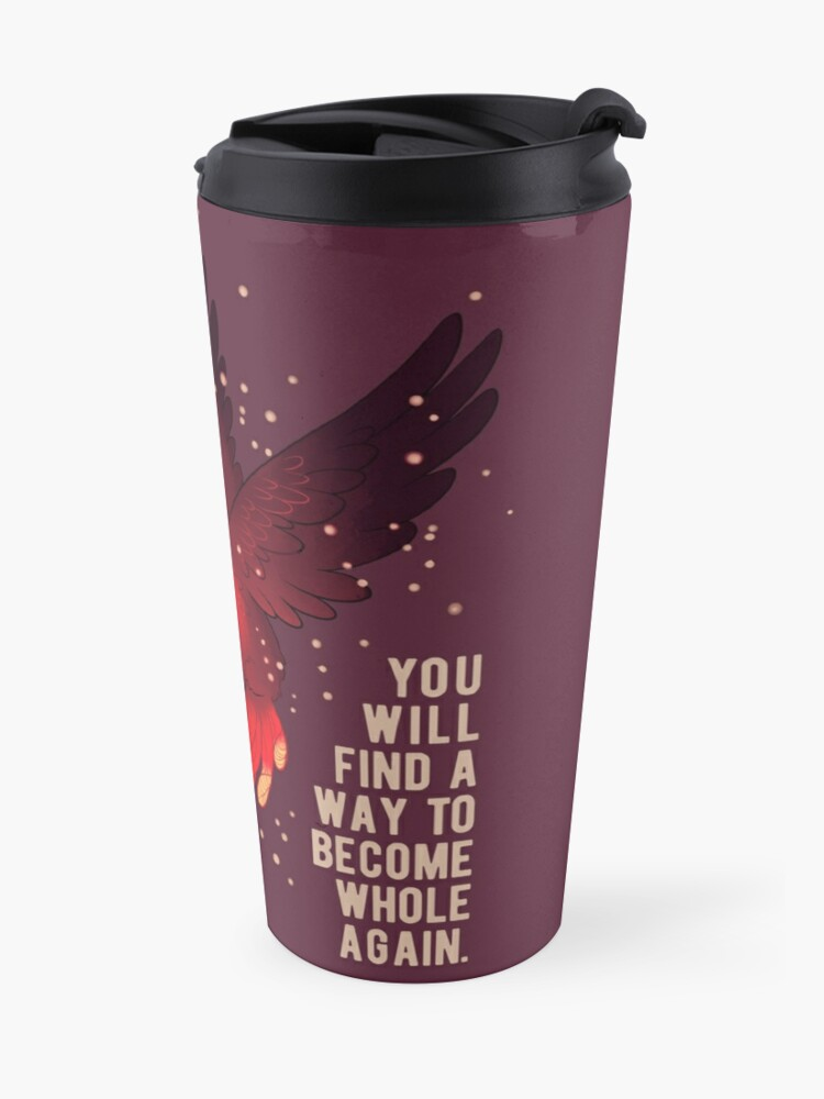"""Alternate view of """"You Will Rise Above the Ashes"""" Phoenix Travel Mug"""