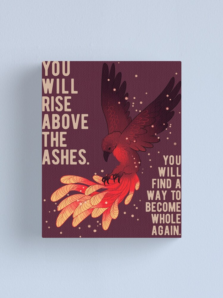 """Alternate view of """"You Will Rise Above the Ashes"""" Phoenix Canvas Print"""