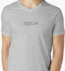 """I'm Quitting T.V. Club"" Men's V-Neck T-Shirt"