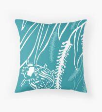 Calligrapha Beetles and Black Willow Throw Pillow