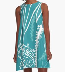 Calligrapha Beetles and Black Willow A-Line Dress