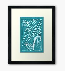 Calligrapha Beetles and Black Willow Framed Print