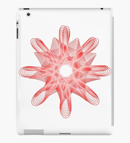 Spirals with Red and White iPad Case/Skin