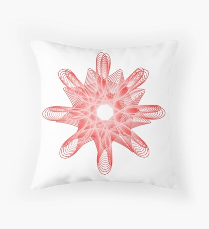 Spirals with Red and White Throw Pillow