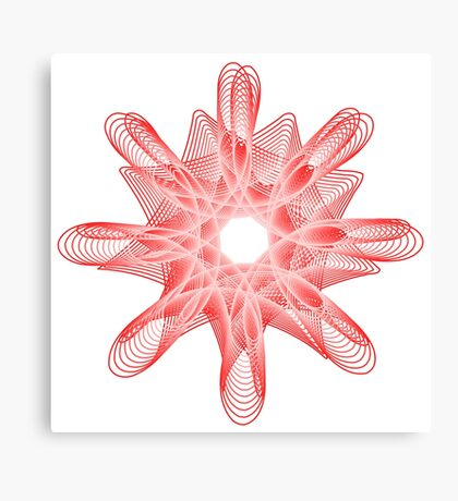 Spirals with Red and White Canvas Print