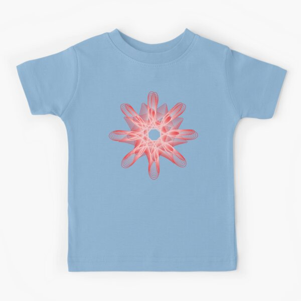 Spirals with Red and White Kids T-Shirt
