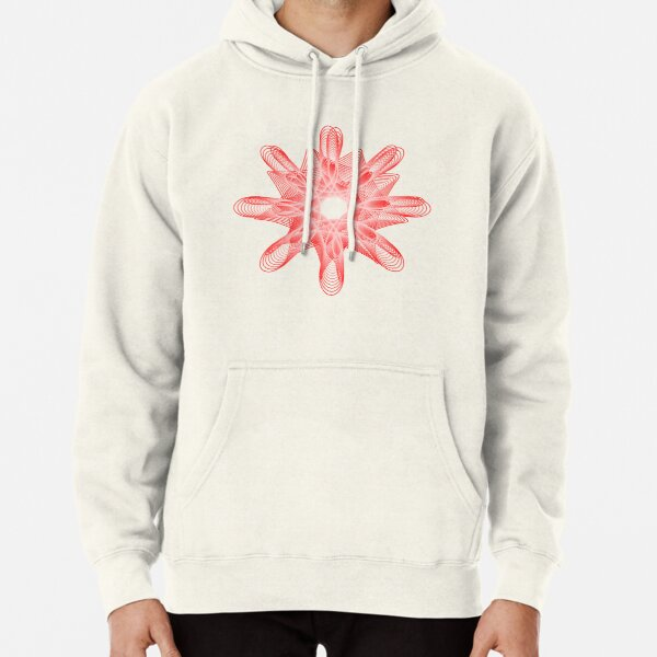 Spirals with Red and White Pullover Hoodie