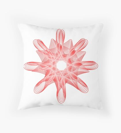 Spirals with Red and White Floor Pillow