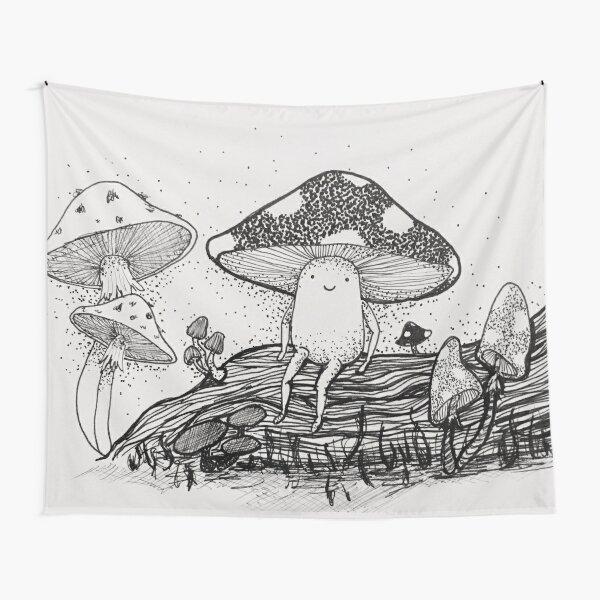 Little Mushroom Tapestry
