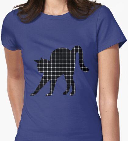 Black Cat Optical Illusion Effect T-Shirt