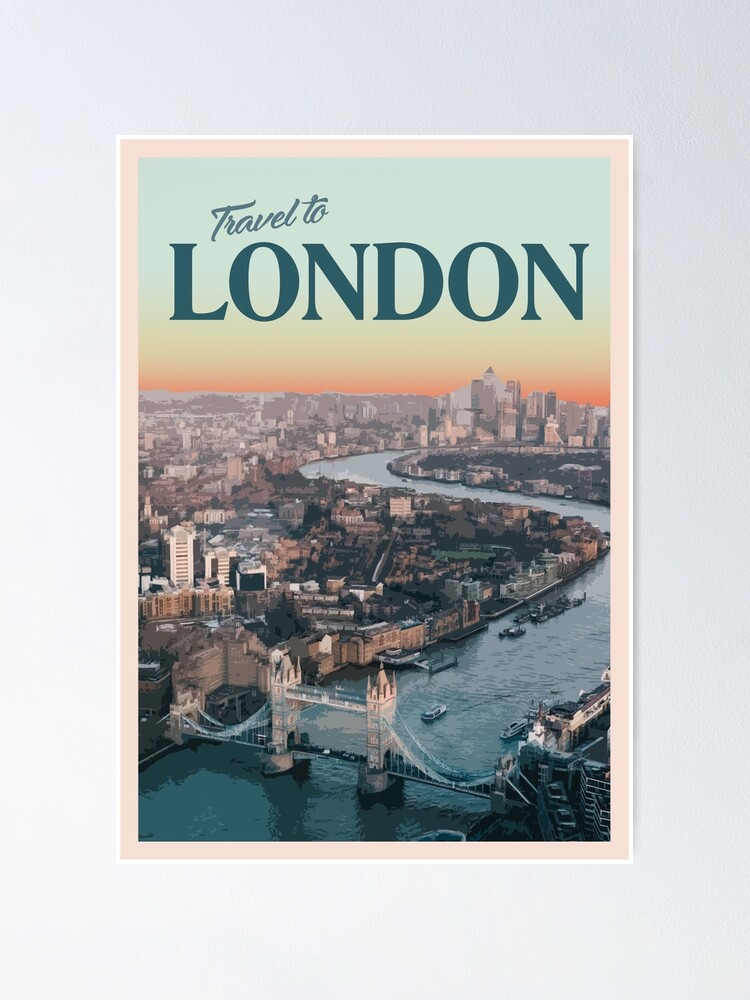 Alternate view of London Poster
