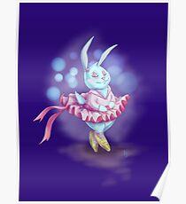 Bunny Ballerina Poster
