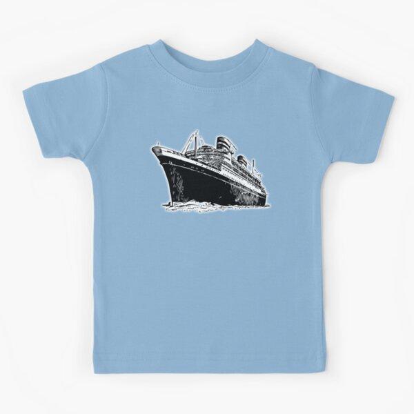 Cruise Ship. Ocean Liner, Ship, Trans Atlantic. Kids T-Shirt
