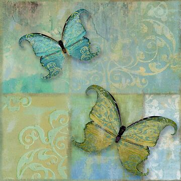 Damask Butterflies II by mindydidit