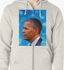 Barack Obama -  Nothing Was The Same Zipped Hoodie