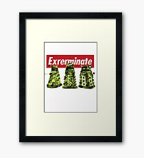 Exterminate Doctor Who Framed Print