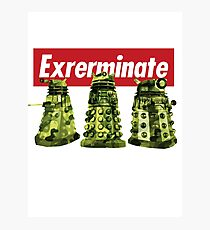 Exterminate Doctor Who Photographic Print