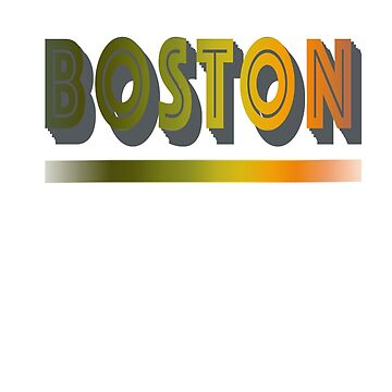 Retro boston city design by jhussar