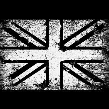 Monochromatic Union Jack Distressed by machmigo