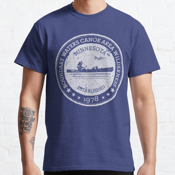 Minnesota Boundary Waters Vintage Style Stamp - White Classic T-Shirt