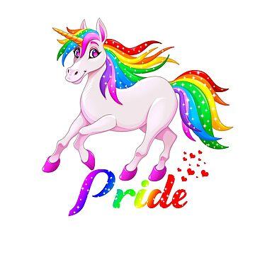 Gay Unicorn - Gay Rainbow Pride by StedeBonnet