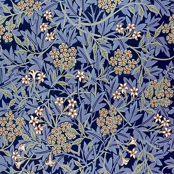 Vintage Blue Flower Pattern  by jeastphoto
