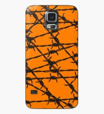 Barbed Wire [Orange] by Chillee Wilson Case/Skin for Samsung Galaxy