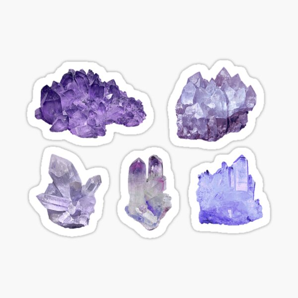 2\u201d- common crystals and uses sticker BASIC CRYSTALS sticker pack Witchy stickers 8pcs