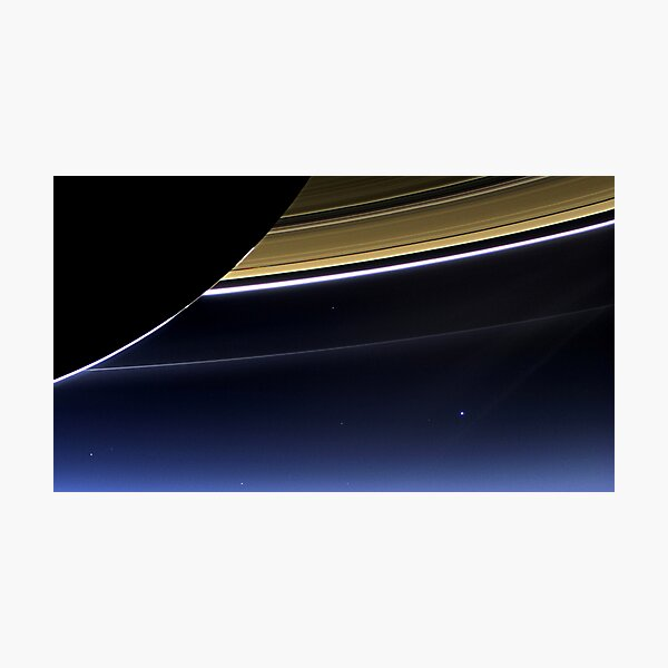 Earth and Saturn - The Day Earth Smiled  Photographic Print