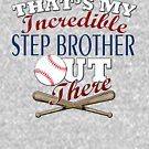 Baseball Step Brother & Sister Gift by Curious  Graphix