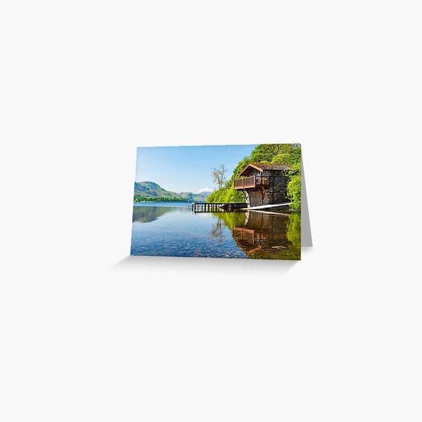 Ullswater Boathouse, lake district, UK Greeting Card