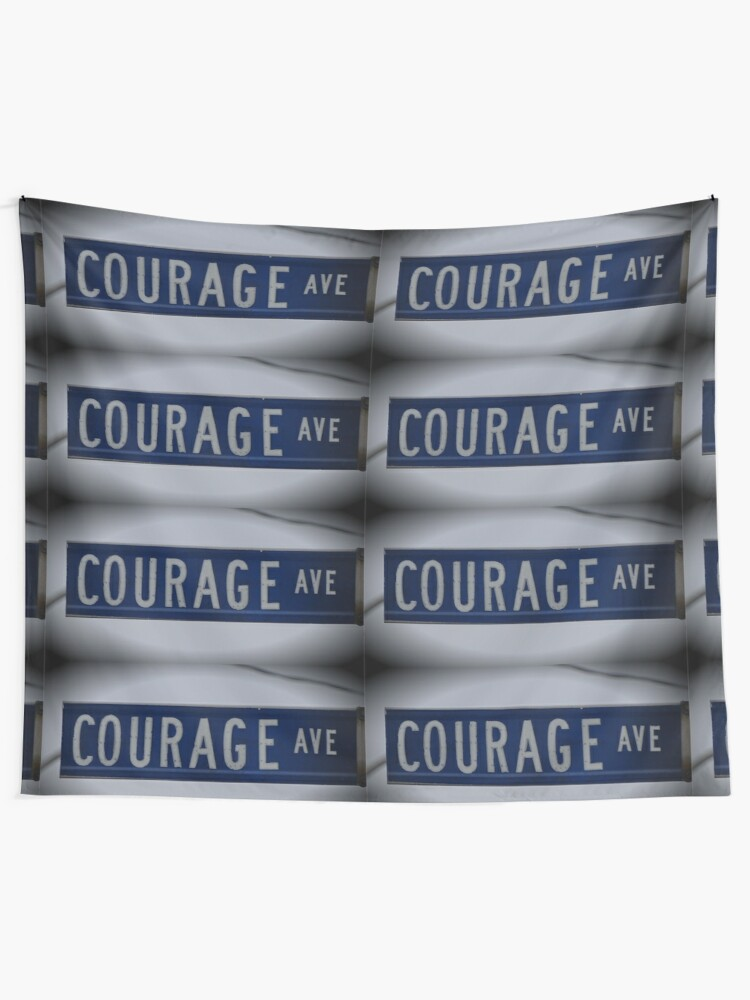 Alternate view of Courage Ave  Tapestry