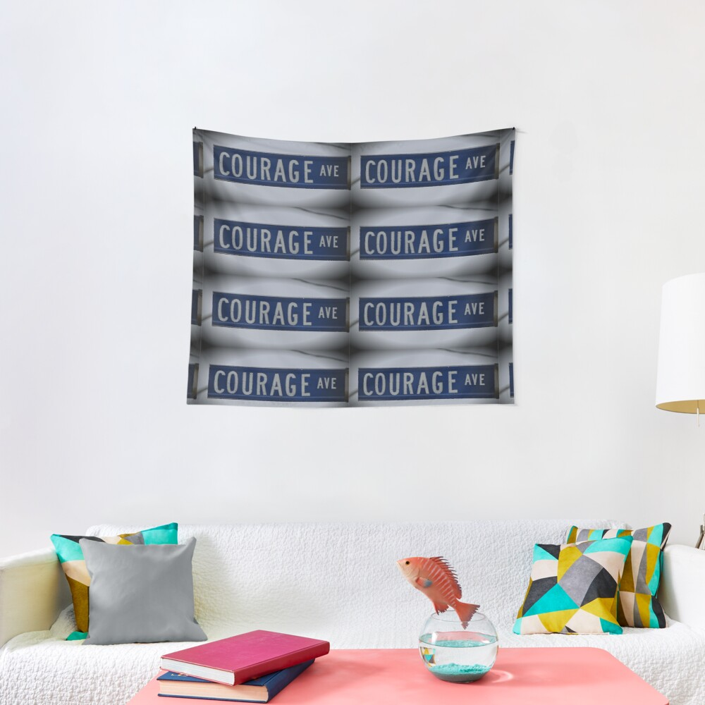 Courage Ave  Tapestry