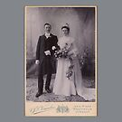 vintage wedding couple by kj dePace'
