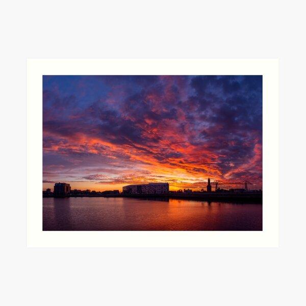 Middlehaven Sunset Art Print