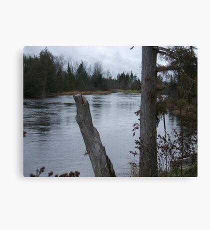 Mio Michigan The River Canvas Print
