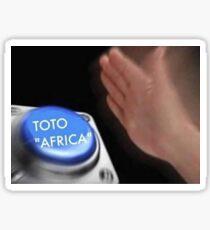 Toto Africa button Sticker