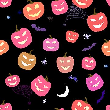 Halloween Pattern Pumpkins and spiders.  by lantica