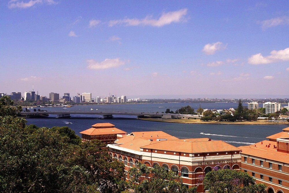 Perth as viewed from the Federation walkway by georgieboy98