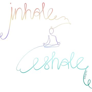 inhale exhale- yoga - purple turquoise - Isa Miller by Isa-Miller