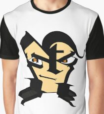 letter face Graphic T-Shirt