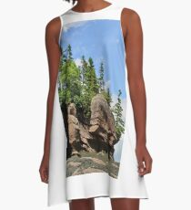 Hopewell Rock Formations, New Brunswick Canada A-Line Dress